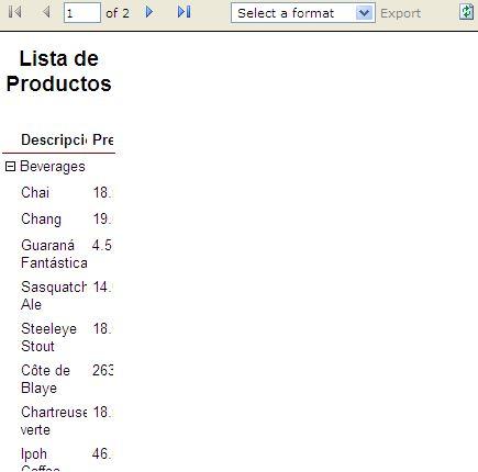 Salida del control ReportViewer en Firefox