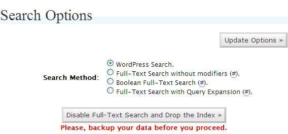 Plugin para búsquedas de texto completo en WordPress