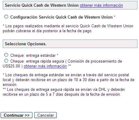 QuickCash de Western Union disponible para los pagos de AdSense