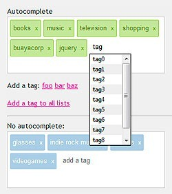 jQuery Tags