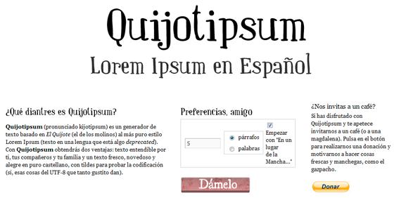 Quijotipsum